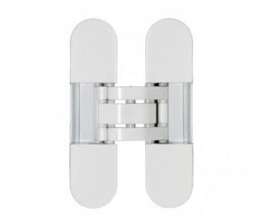 Cкрытая 3D петля OTLAV INVISSACTA 305 3-D, пластик, 30х120мм,корпус белый +4 колпачка