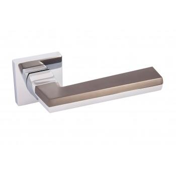Дверная ручка Rodos ROD-L519 черный никель/хром полированный(TYPE 5) 21518