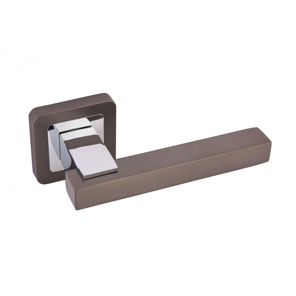 Дверная ручка Rodos ROD-L247 чёрный никель / хром полированный (TYPE 4) 21517